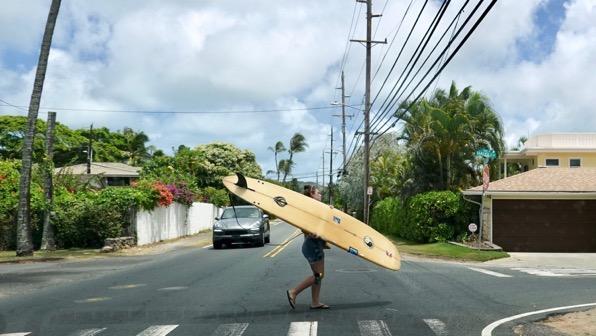 Surfboard pedestrian