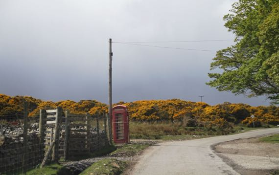 Telephone box rural