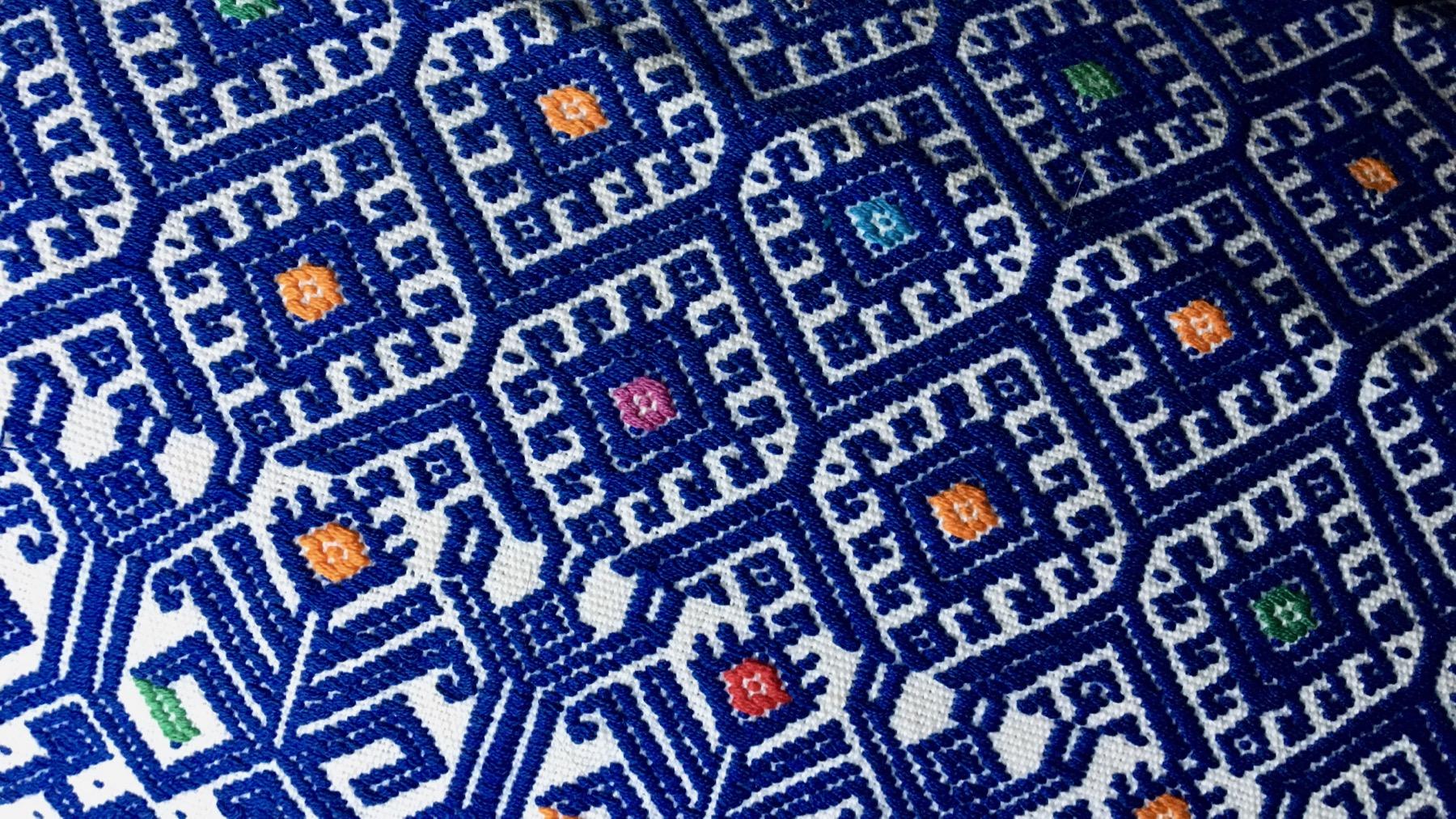 Textile blue