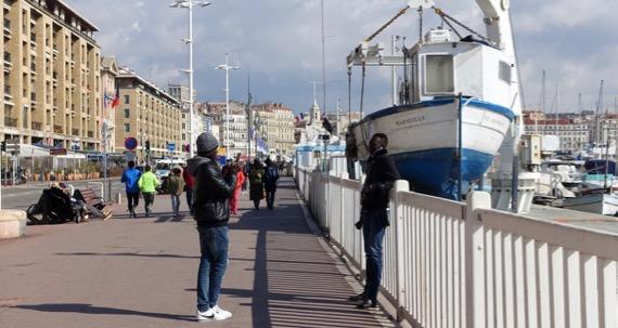 Tourists photoing
