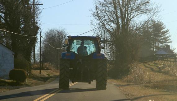 Tractor ahead