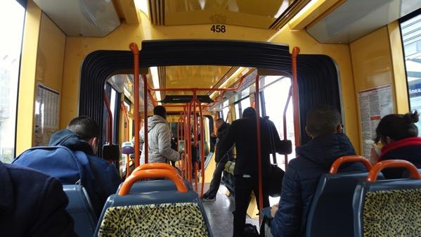 Tram inside
