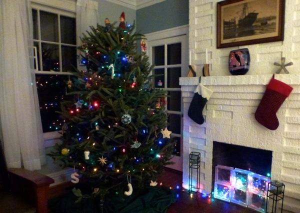 Tree Xmas 2012 alight