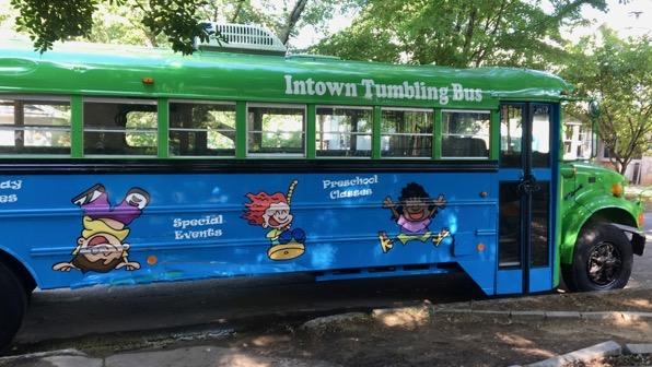 Tumbling bus