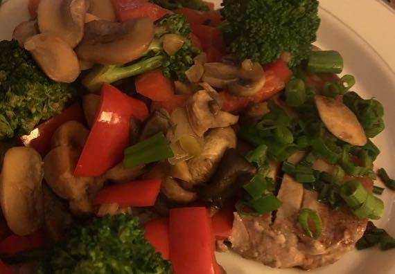 Tuna steak plate