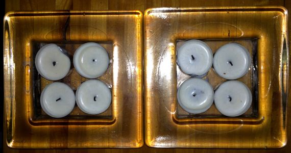 Two quads tealights