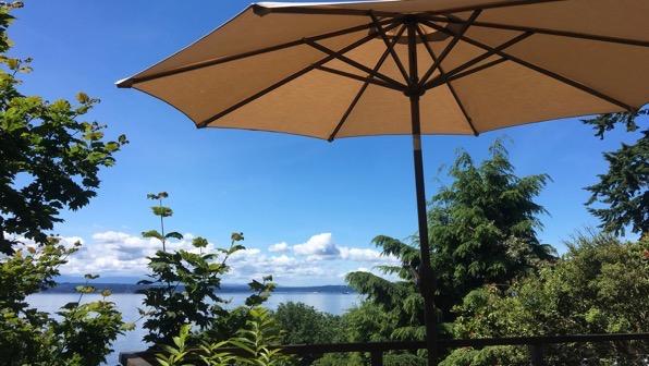 Umbrella deck view