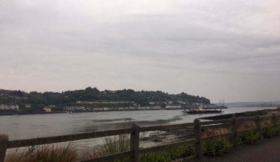 Upriver Cobh toward Cork