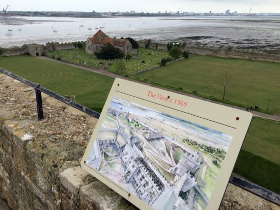 View from atop portchester castle keep