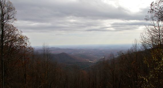 View southish from woody gap