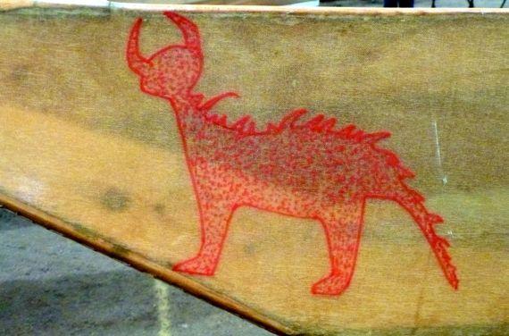 Viking kayak stencil hmm