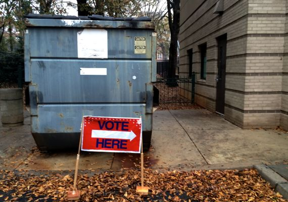 Vote here dumpster
