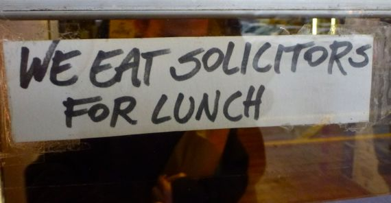 We eat solicitors