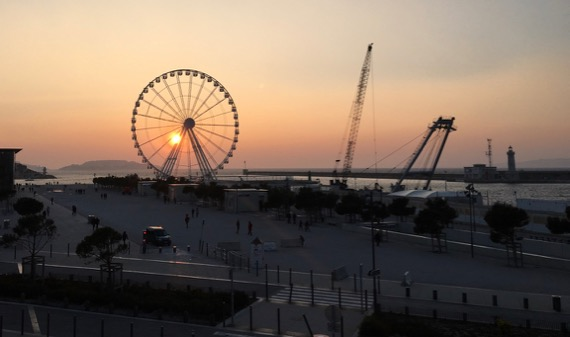 Wheel sunset