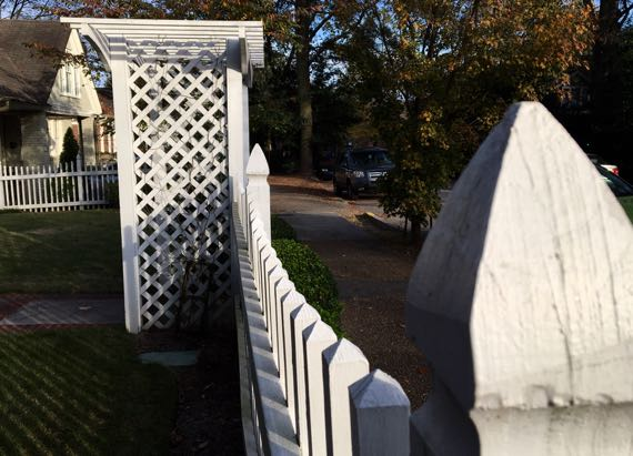 White picket fence and