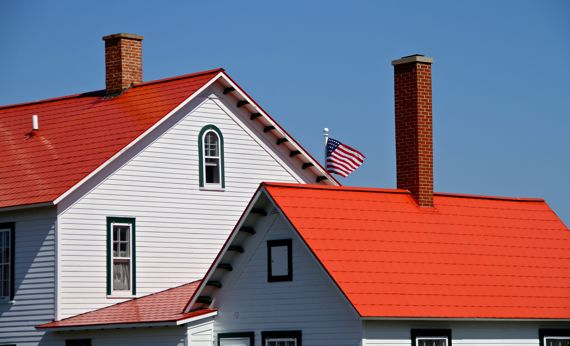 Whitefish point buildings in da sun