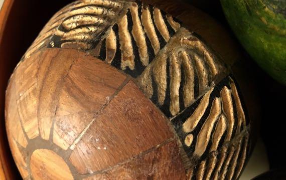 Wooden spheres