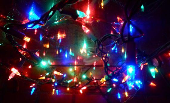 Xmas lights vertical