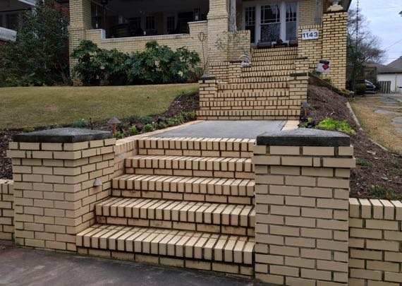 Yellow brick steps